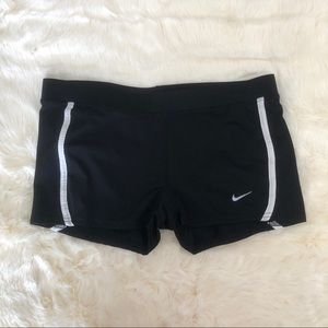 Nike dry fit shorts, black and white, size M